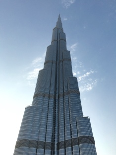 The Burj Khalifa - currently the world's tallest building.