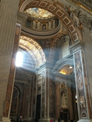 light through the window in St. Peter's Basilica