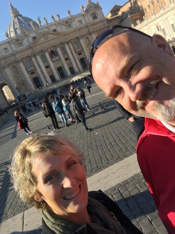 Enjoying the Piazza di San Pietro