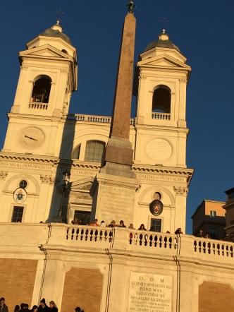 Trinita dei Monti - at the top of the Spanish Steps